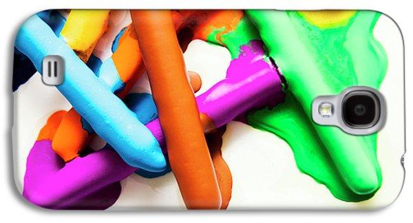 Colourful Crayon Art Galaxy S4 Case