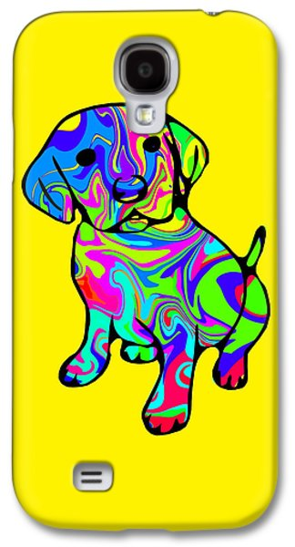 Puppies Galaxy S4 Cases - Colourful Puppy Galaxy S4 Case by Chris Butler