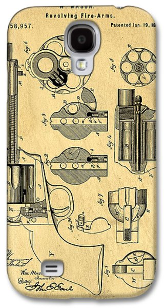 Colt Peacemaker Patent Art Blueprint Drawing Galaxy S4 Case