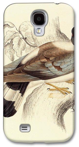 Columba Leuconota, Snow Pigeon Galaxy S4 Case by Elizabeth Gould