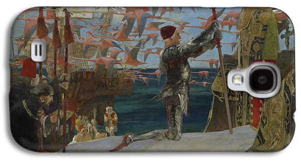 Columbus In The New World Galaxy S4 Case by Edwin Austin Abbey