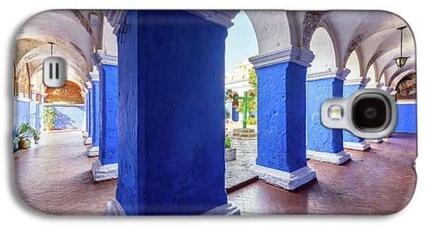 Columns In Santa Catalina Monastery Galaxy S4 Case by Jess Kraft