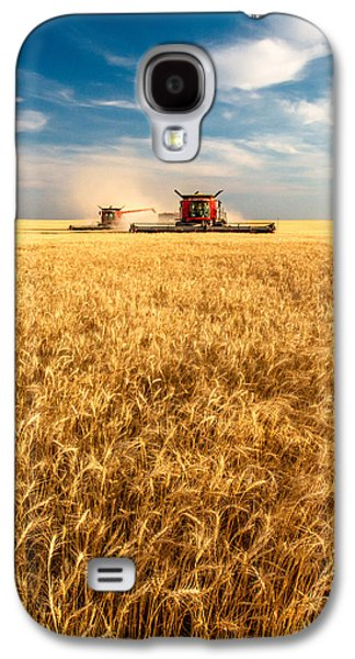 Combines Cutting Wheat Galaxy S4 Case by Todd Klassy