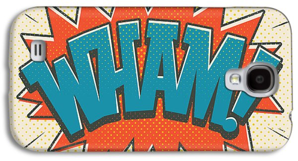 Comic Wham On White Galaxy S4 Case by Mitch Frey