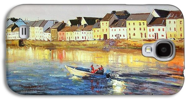 Boats In Water Paintings Galaxy S4 Cases - Coming Home Galaxy S4 Case by Conor McGuire
