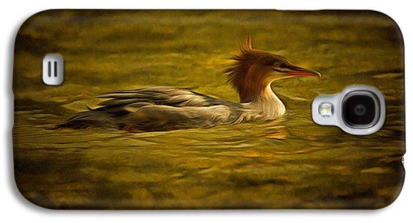 Common Merganser 2 Galaxy S4 Case by Mark Kiver