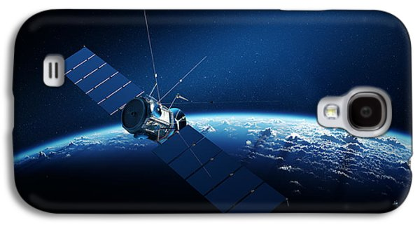 Communications Satellite Orbiting Earth Galaxy S4 Case by Johan Swanepoel