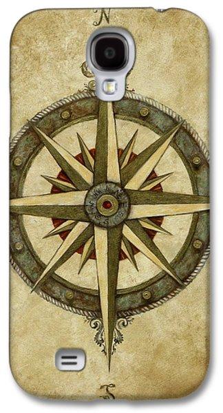 Compass Rose Galaxy S4 Case by Judy Merrell