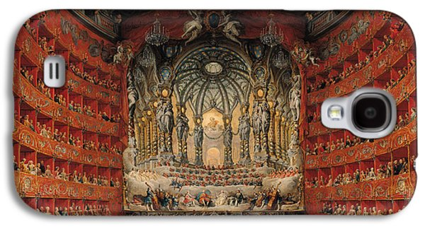 Concert Given By Cardinal De La Rochefoucauld At The Argentina Theatre In Rome Galaxy S4 Case by Giovanni Paolo Pannini or Panini