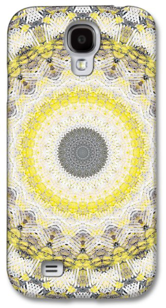 Concrete And Yellow Mandala- Abstract Art By Linda Woods Galaxy S4 Case by Linda Woods