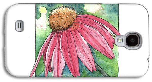 Cone Flower Galaxy S4 Case by Laura McLendon