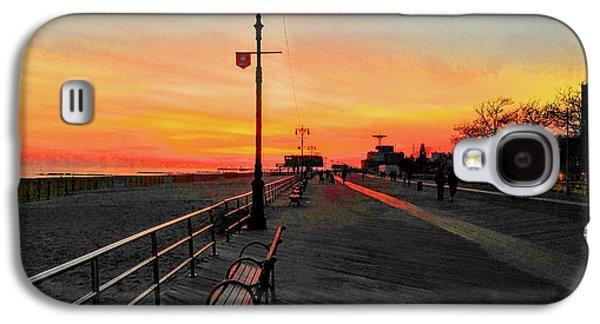 Coney Island Boardwalk Sunset Galaxy S4 Case