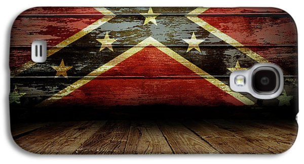 Confederate Flag On Wall Galaxy S4 Case by Les Cunliffe