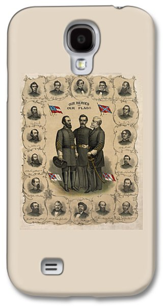 Confederate Generals Of The Civil War Galaxy S4 Case by War Is Hell Store