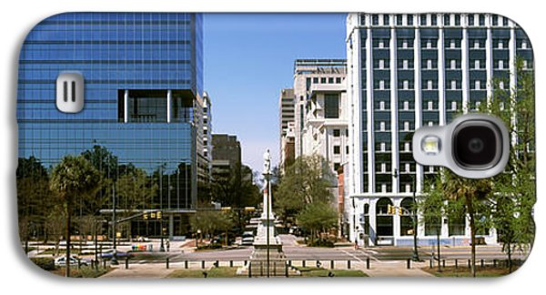 Confederate Monument With Buildings Galaxy S4 Case by Panoramic Images