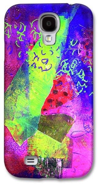 Galaxy S4 Case featuring the mixed media Confetti by Nancy Merkle