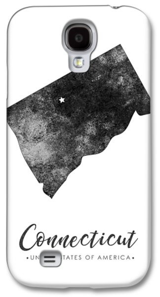 Connecticut State Map Art - Grunge Silhouette Galaxy S4 Case