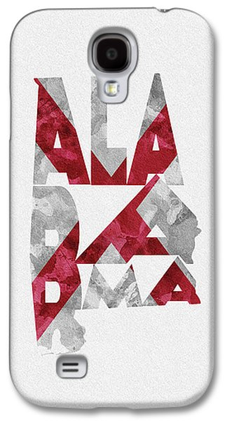 Alabama Typographic Map Flag Galaxy S4 Case