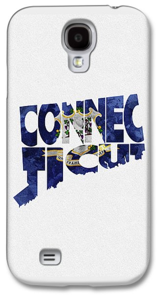 Connecticut Typographic Map Flag Galaxy S4 Case