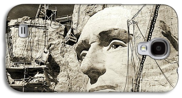 Construction Of The Mount Rushmore National Memorial, Detail Of Abraham Lincoln,1928  Galaxy S4 Case by American School