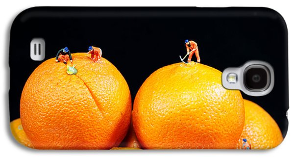 Construction On Oranges Galaxy S4 Case by Paul Ge