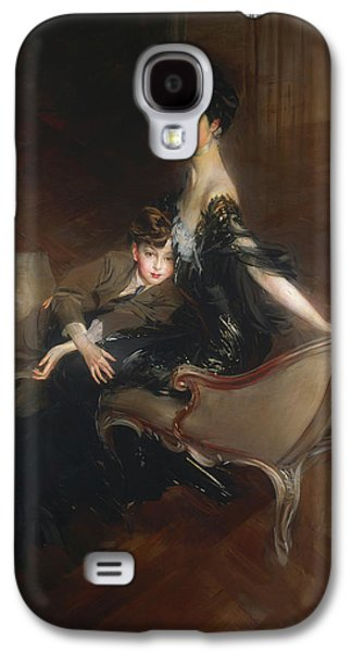 Consuelo Vanderbilt - Duchess Of Marlborough And Her Son Lord Iv Galaxy S4 Case by Giovanni Boldini