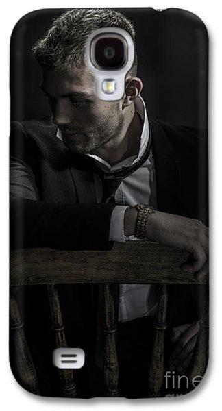 Contemplative Male Model Galaxy S4 Case by Amanda Elwell