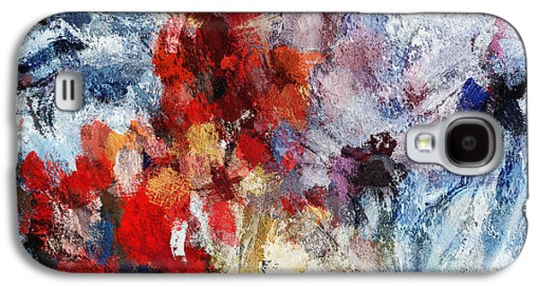 Contemporary Abstract Painting In Red / Orange Tones Galaxy S4 Case by Ayse Deniz
