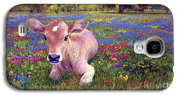 Contented Cow In Colorful Meadow Galaxy S4 Case