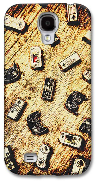 Controllers Of Retro Gaming Galaxy S4 Case by Jorgo Photography - Wall Art Gallery