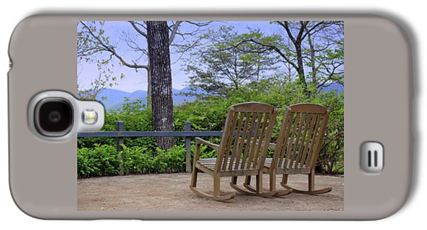 A Conversation Between Trees And Two Wooden Rocking Chairs Galaxy S4 Case