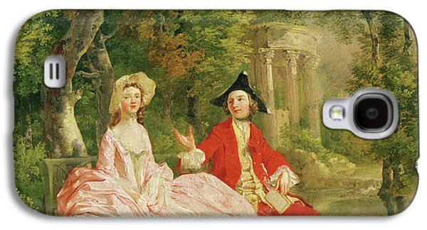 Conversation In A Park Galaxy S4 Case by Thomas Gainsborough