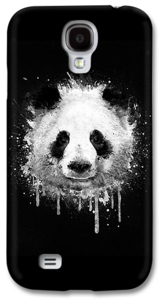 Cool Abstract Graffiti Watercolor Panda Portrait In Black And White  Galaxy S4 Case