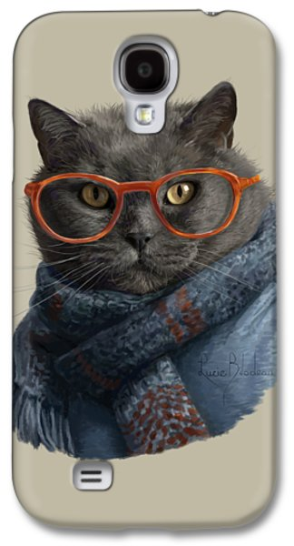 Cool Cat Galaxy S4 Case by Lucie Bilodeau