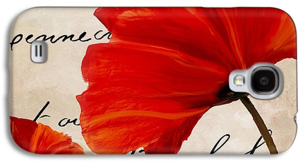 Coquelicots Rouge II Galaxy S4 Case by Mindy Sommers