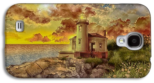 Coquille River Lighthouse 4 Galaxy S4 Case