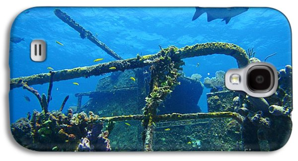 Coral And Fish On A Caribbean Shipwreck Galaxy S4 Case by John Malone