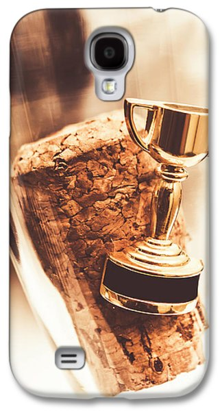 Cork And Trophy Floating In Champagne Flute Galaxy S4 Case by Jorgo Photography - Wall Art Gallery