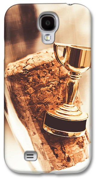 Cork And Trophy Floating In Champagne Flute Galaxy S4 Case