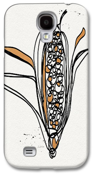 corn- contemporary art by Linda Woods Galaxy S4 Case by Linda Woods