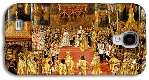 Coronation Of Emperor Alexander IIi Galaxy S4 Case by Georges Becker