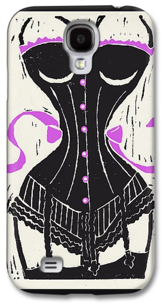 Corset And Stockings Linocut Galaxy S4 Case