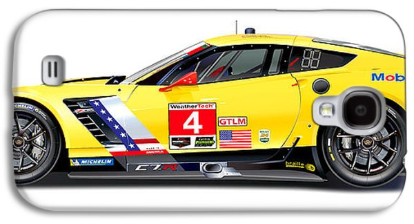 Corvette C7.r Lm Illustration Galaxy S4 Case