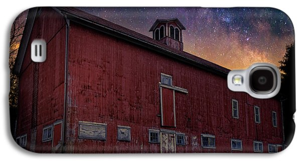 Galaxy S4 Case featuring the photograph Cosmic Barn Square by Bill Wakeley