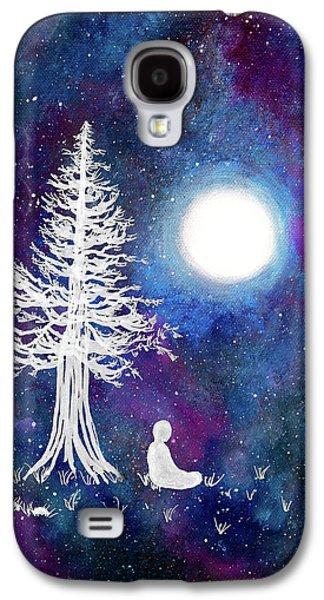Cosmic Buddha Meditation Galaxy S4 Case by Laura Iverson
