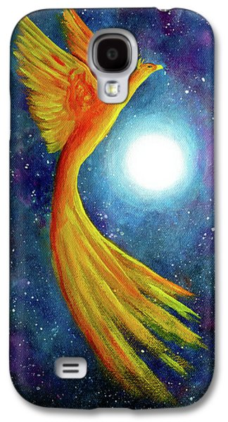 Cosmic Phoenix Rising Galaxy S4 Case by Laura Iverson