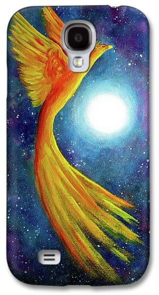 Cosmic Phoenix Rising Galaxy S4 Case