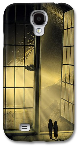 Solar Eclipse Galaxy S4 Cases - Cosmic Rays Galaxy S4 Case by Svetlana Sewell