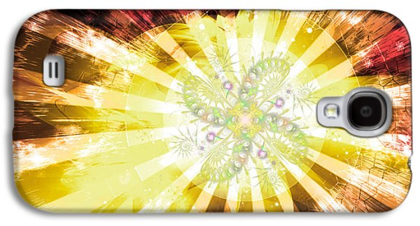Cosmic Solar Flower Fern Flare 2 Galaxy S4 Case