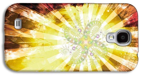 Cosmic Solar Flower Fern Flare 2 Galaxy S4 Case